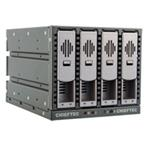 "CHIEFTEC backplane to 5,25"" for 4x SAS/SATA HDD, black, hot-swap, full ALU"