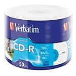 VERBATIM CD-R 700MB, 52x, printable, wrap 50 ks