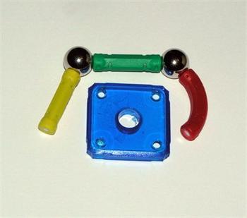 ZDARMA vzorek Magnetické stavebnice Profi-Mag, 2x kulička + 3x magnetická tyčka + 1x výplň